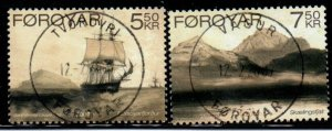 Faroe Islands Sc 481-2 2007 Paintings Recherche Expedition stamp set used