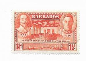Barbados #203 MH Remnants - Stamp - CAT VALUE $2.10