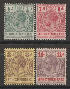 SOLOMON ISLANDS : 1913 KGV set ½d-11d.