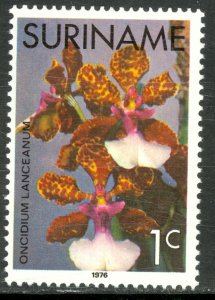 SURINAME 1975-76 1c ORCHIDS Issue Sc 427 MNH