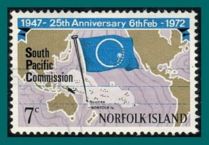 Norfolk Island 1972 Sth Pacific Commission, used #149,SG126