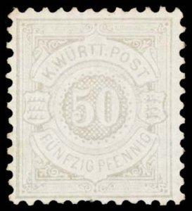 GERMAN STATES- WURTTEMBERG 66  Mint (ID # 101833)