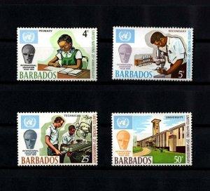 BARBADOS - 1970 - UNITED NATIONS - INTERNATIONAL EDUCATION YEAR- MINT MNH SET!