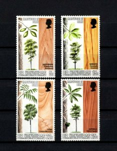 BRITISH HONDURAS - 1970 - QE II - HARDWOOD TREES & WOODS ++ MINT - MNH SET!