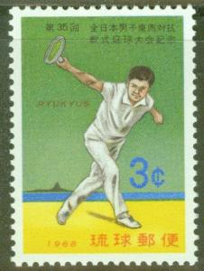 RYUKYU Scott 179 MNH** Tennis stamp 1968