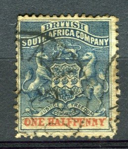 RHODESIA: 1892 early classic Springbok issue used Shade of 1/2d. value