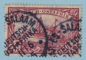 GERMAN EAST AFRICA 19  USED -  SMALL THIN - VERY FINE!