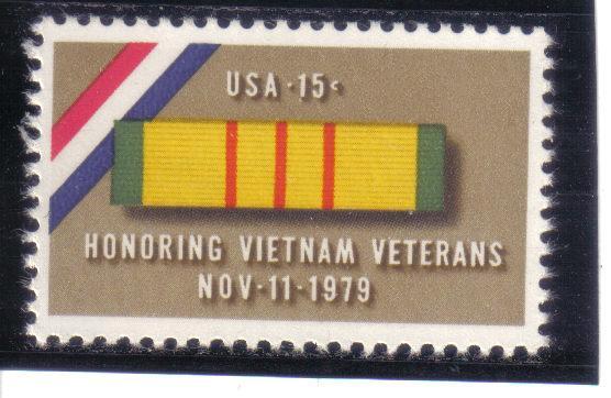 1802 - .15 Vietnam Veterans mnh f-vf.