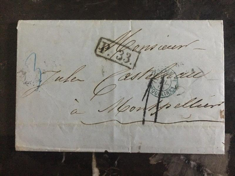 1876 Odessa Russia Cover To France Vía Germany