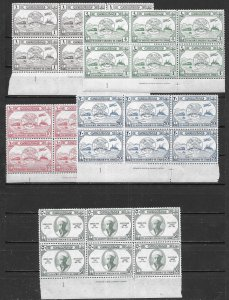Jordan 245-9 1949 75th UPU set Printers Name Block of 6 MNH FOLDED
