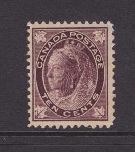 Canada Sc 73 MLH. 1898 10c Queen Victoria Maple Leaf F-VF