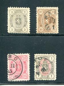 Finland #17(*), 27, 29, 35  used VF