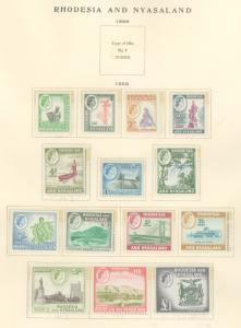 Rhodesia & Nyasaland 158/171 Mint VF H