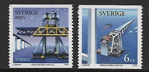 SWEDEN 2337-2338 MNH CONSTRUCTION OF THE ORESUND BRIDGE SET
