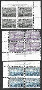 Doyle's_Stamps: Set of 3 1951 Canadian PNBs XF-S