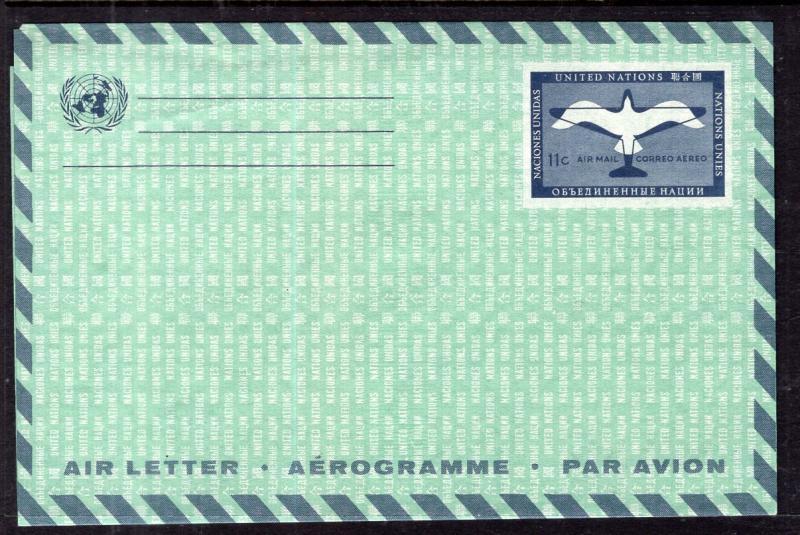 UN New York UC5a Postal Stationary Unused VF