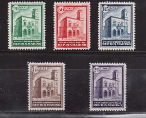 San Marino #134 - #138 VF/NH Perfect Gum Rare Set