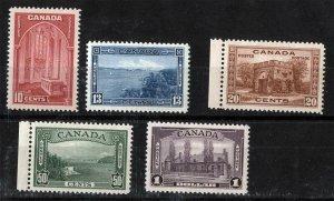 CANADA Sc 241-245 Issue of 1938 MNH Original Gum Set Ex-Fine