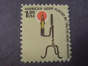 U.S.# 1610-MINT/NEVER HINGED--$1.00----AMERICANA---CANDLE & HOLDER-1979