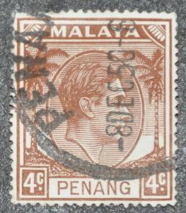 DYNAMITE Stamps: Malaya Penang Scott #6 – USED