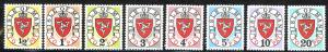 Isle of Man Sc# J1-J8 MNH (1973 Questa) 1973 Postage Due