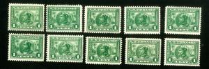 US Stamps # 397 F-VF + VF OG NH Lot of 10 Catalog Value $350.00