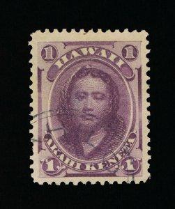 GENUINE HAWAII SCOTT #30 VF-XF USED 1866 PURPLE PRINCESS KAMAMALU #15822