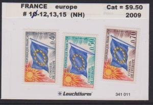 FRANCE STAMPS MNH -OFFICIAL STAMPS 1965-71  SCOTT#1012-13-15 . LOT#F36