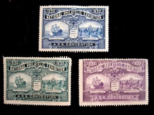 1930 NATIONAL PHILATELIC EXPO - APS CONVENTION STAMPS