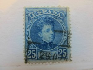 Spanien Espagne España Spain 1901 King Alfonso XIII 25c fine used stamp A5P2F156