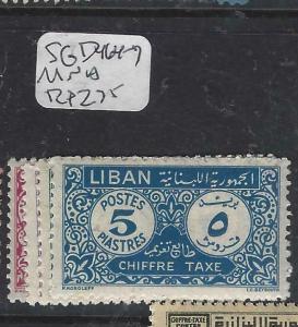 LEBANON (P1604B)  POSTAGE DUE SG D 464-7    MNH