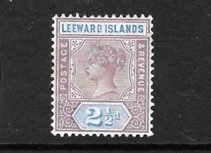 LEEWARD ISLANDS   1890   2 1/2d  QV  MH   SG 3