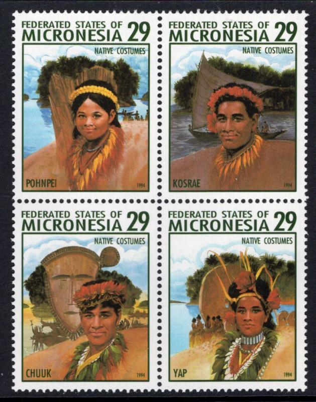 Micronesia MH Block 193 Native Costumes 1994