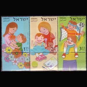 ISRAEL 2007 - Scott# 1705-7 Family Love tab Set of 3 NH