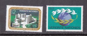 U.N. - Vienna # 72-73, Donaupark, Mint NH, 1/2 Cat.