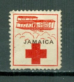 JAMAICA 1916 RED CROSS LABEL FOR HELPING JEWS in POLAND...TYPE 3...UNUSED