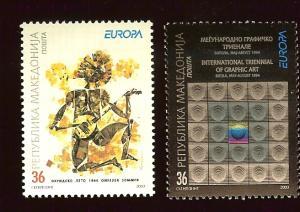 Macedonia 264-5 Europa Cept 2003 MNH