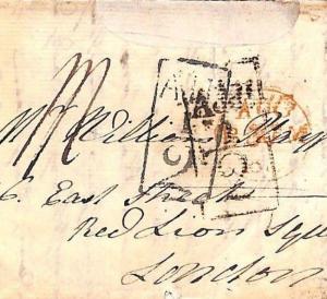 GB Scotland EARLY Edinburgh ADD HALF Postmarks 1813 Cover 2 DIFFERENT Rare MS546