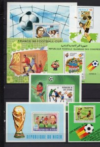 SOCCER WORLD CUP SMALL COLLECTION SET OF 7 S/S MNH