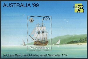 Seychelles 808,MNH. PHILEXPO-1999,Australia.Vessel The Cheval Marin,1774.