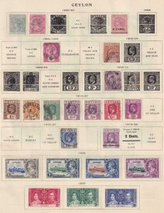 CEYLON  INTERESTING COLLECTION ON ALBUM PAGES - Y920 #1