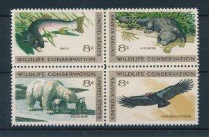 [46870] United States 1971 Marine life fish polar bear alligator bird  MNH