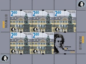 Russia. Finland. 2020. - Finland. Peterspost. Beethoven. 250th anniversary of hi