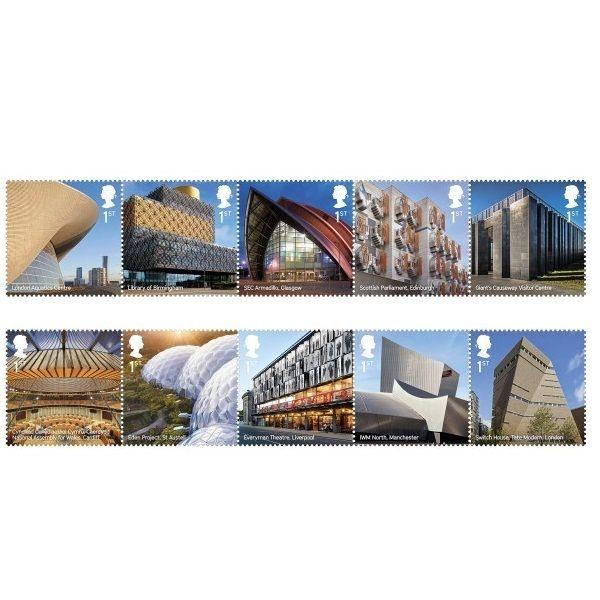 GB Landmark Buildings Stamp Set MNH 2017