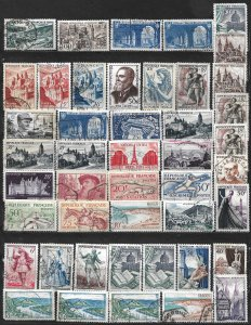 COLLECTION LOT OF 45 FRANCE 1946+ STAMPS CLEARANCE