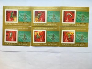 GUINEA BISSAU 1980 Deluxe 554-59 B  Olympics Games Moscow Mint