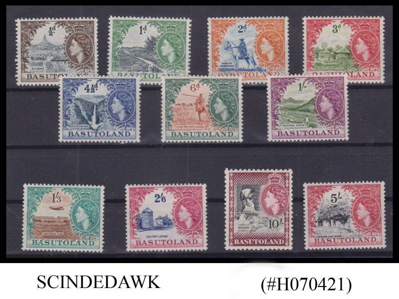 BASUTOLAND - 1954 QEII SCOTT#46-56 - 11V - MINT LH