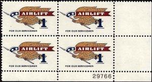 1341 Mint,OG,NH... Plate Block of 4... SCV $8.25