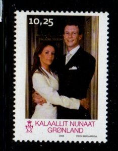 Greenland Sc 520 2008 Royal Wedding Prince Joachim stamp  mint NH