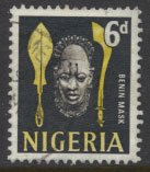 Nigeria  SG 95 SC# 107 Used 1961 Definitive Benin Mask  please see scan